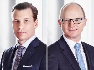 David O'Leary, Vorstandsmitglied BAWAG Group / Head of BAWAG P.S.K. Retail und Werner Rodax, Bereichsleiter Privat- und Geschäftskundenvertrieb BAWAG P.S.K.