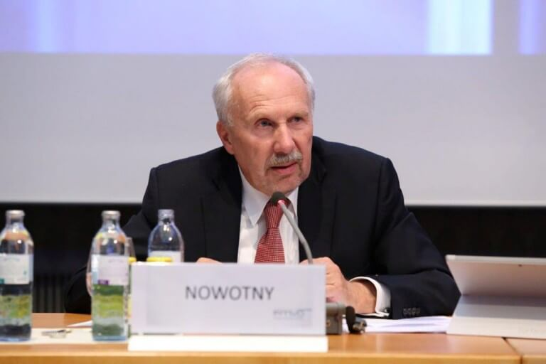 Univ. Prof. Dr. Ewald Nowotny, Gouverneur der Oesterreichischen Nationalbank