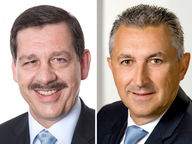 """Dialog Lebensversicherung AG Vorstandsvorsitzender Michael Stille, Österreich-Direktor Willi Bors: """"Unsere Prämieneinnahmen sind 2018 auf einen neuen Rekordwert gestiegen."""""""