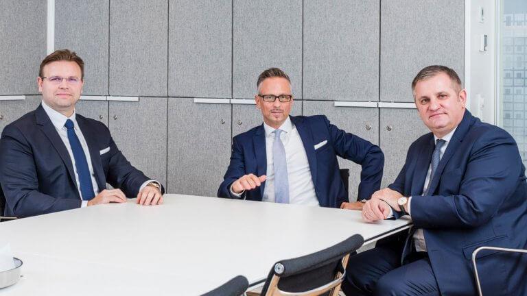 Der Vorstand der Wiener Privatbank: Juraj Dvorak, Christoph Raninger (CEO), Eduard Berger.