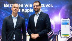 """Christian Rau (Mastercard Austria) & Ertan Piskin (Leiter des Kartengeschäfts bei Erste Bank und Sparkassen) : """"Digital Payment ist bei unseren Kunden voll angekommen."""""""