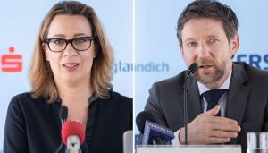 """Karin Kiedler, Leiterin Marktforschung Erste Bank, Thomas Schaufler, Privatkundenvorstand Erste Bank Oesterreich: """"Uns geht es darum, das Thema Fondssparen einfach und verständlich zu machen."""""""