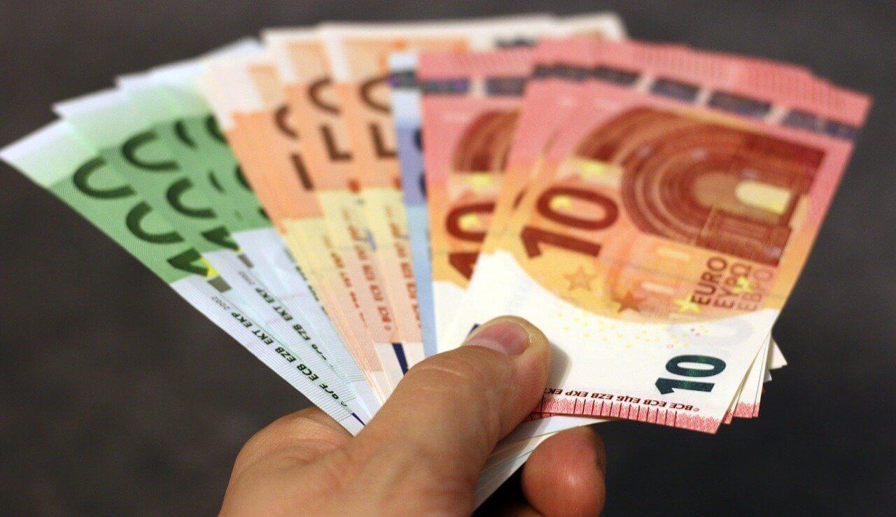 Bargeld Scheine Euro Bezahlen