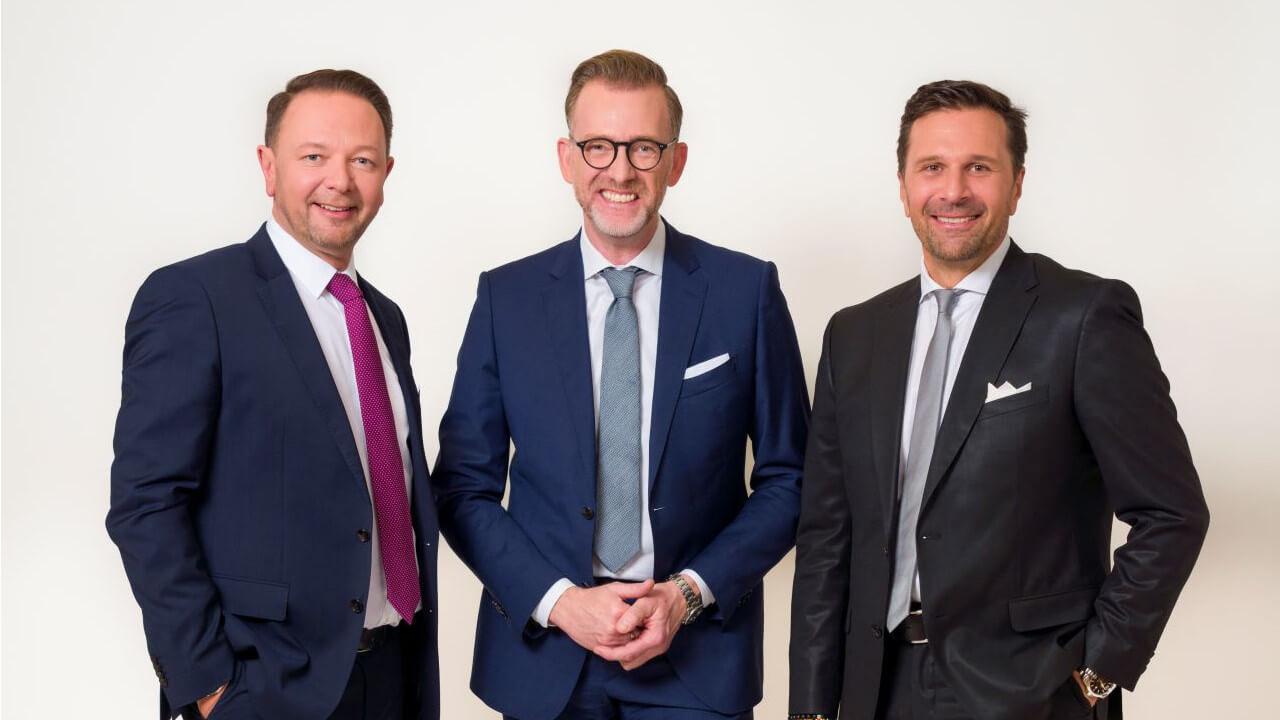 Vorstandsdirektor Christian Kladiva, Vorstandsmitglieder Ingo Hofmann und Helmut Schleich