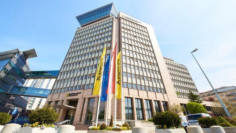 Die Zentrale der RBI in Wien.