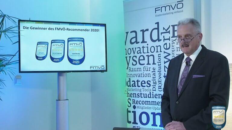 FMVÖ‐Präsident Erich Mayer beim Recommender Award