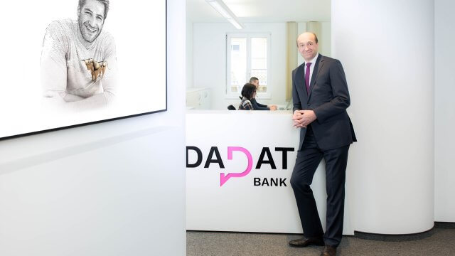 Ernst Huber, CEO DADAT Bank