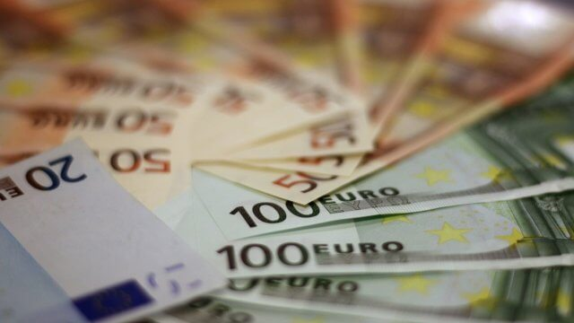 Investition Euro Geld Schein