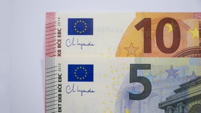 Fünf und zehn Euro Banknoten mit Unterschrift von EZB-Präsidentin Christine Lagarde ab sofort in Umlauf