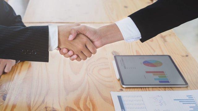 Verkauf Geschäft Handschlag