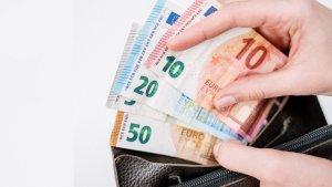 Geldtasche Geld Scheine
