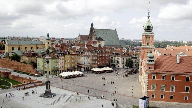 Die polnische Hauptstadt Warschau.