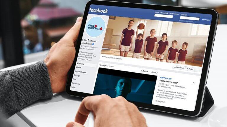 Fans der Erste Bank und Sparkasse vergeben am meisten Likes in den sozialen Medien.
