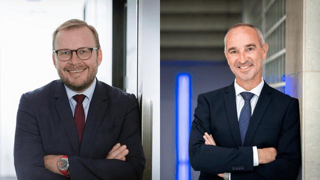 Michael Riegler, Landesdirektor Kärnten und Jürgen Gmeiner Landesdirektior Tirol und Vorarlberg bei der DONAU Versicherung