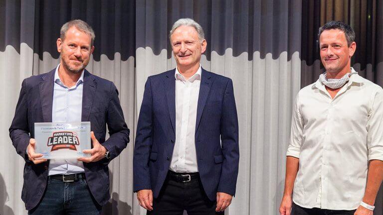 Mario Stadler (Erste Bank), Peter Neubauer (ForumF-Herausgeber und Kategoriesponsor) und Jochen Schneebauer (willhaben, Hauptsponsor).