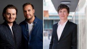 Eric Demuth und Paul Klanschek, CEOs Bitpanda und Florian Wimmer, CEO Blockpit.