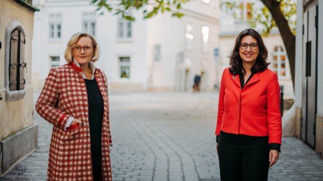 Heidrun Kopp (Woman Money Club) und Astrid Valek (HDI) unterhielten sich über das Thema Frauen & Geld.