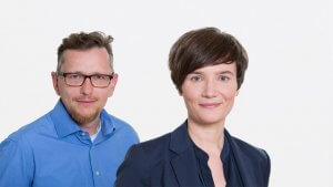 Wolfgang Seidl (CTO) und Sandra Gabler (CMO) bei wikifolio.com