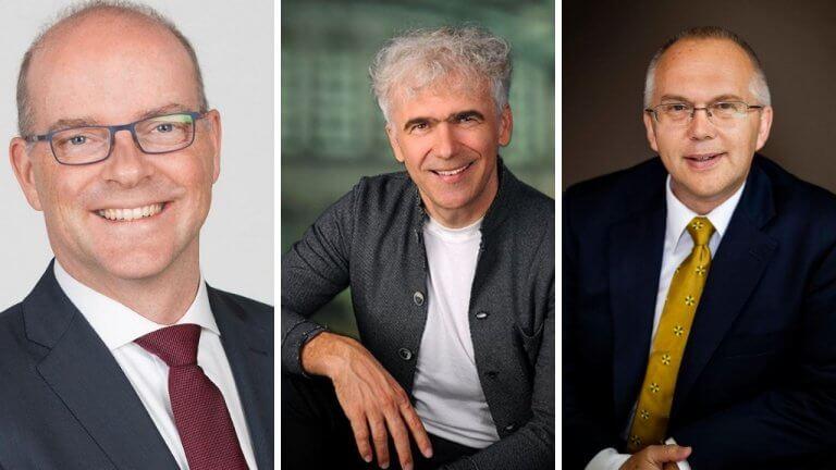 Jens Baumgarten (Simon-Kucher & Partners Strategy & Marketing Consultants GmbH), Claus Bretschneider (BREDDY'S) und Christian Kubitschek (Austrian Anadi Bank)